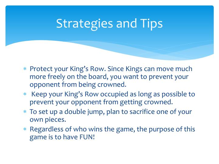 Strategies and Tips