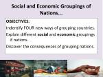 social and economic groupings of nations