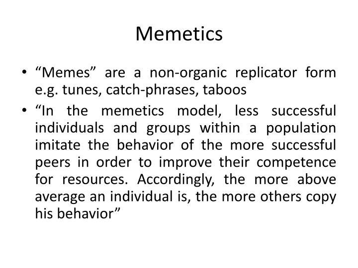 Memetics