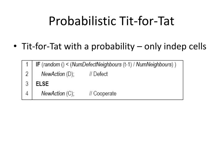 Probabilistic Tit-for-Tat
