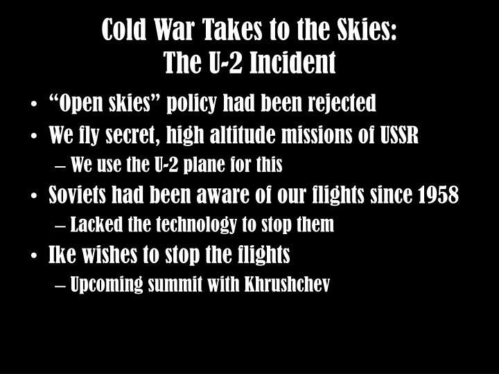 Cold War Takes to the Skies: