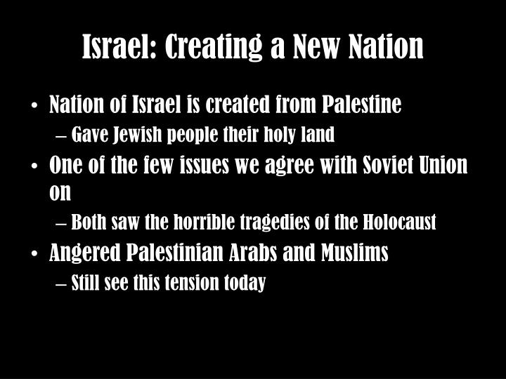 Israel: Creating a New Nation
