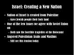 israel creating a new nation
