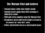 the warsaw pact and geneva