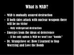 what is mad