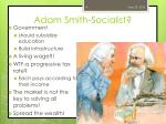 adam smith socialist