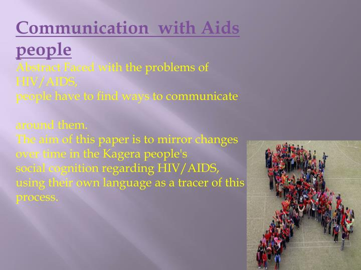 Communication  with Aids people