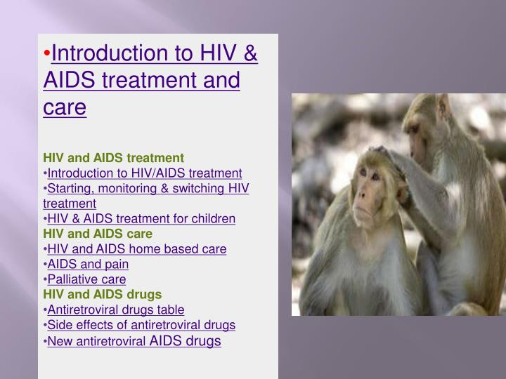 Introduction to HIV & AIDS treatment and care