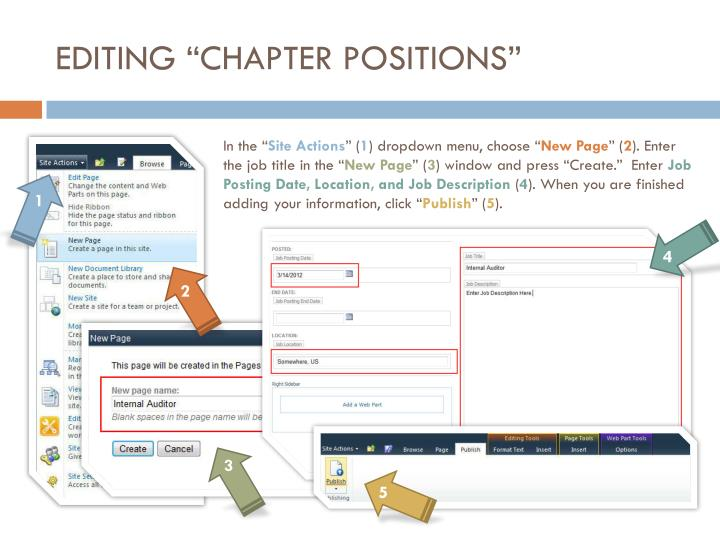 """EDITING """"CHAPTER POSITIONS"""""""