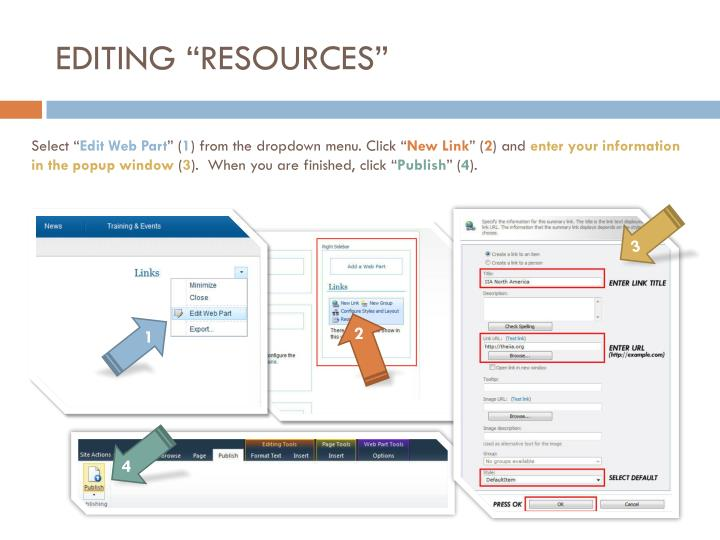 """EDITING """"RESOURCES"""""""