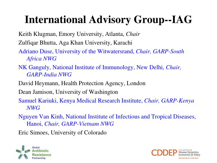 International Advisory Group--IAG