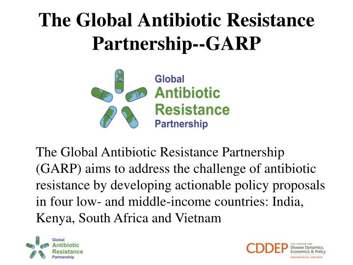 The global antibiotic resistance partnership garp