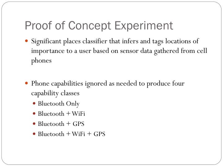 Proof of Concept Experiment