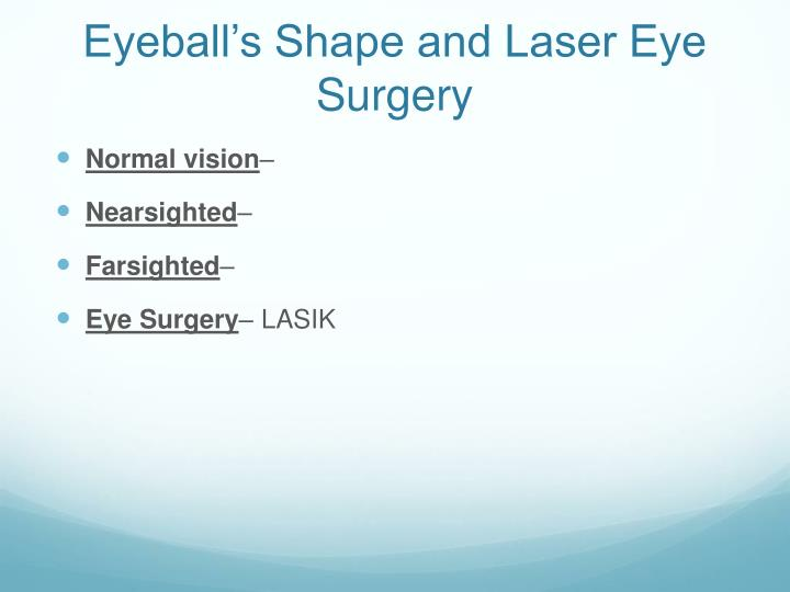 Eyeball's Shape and Laser Eye Surgery