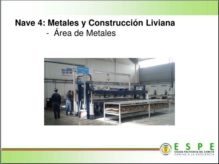 Nave 4: Metales y Construcción