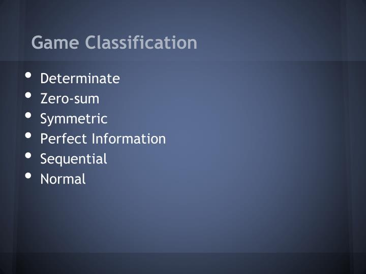 Game Classification