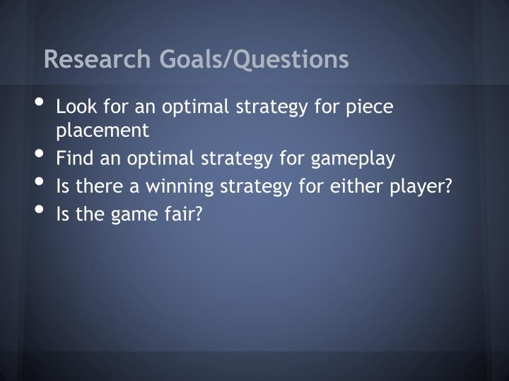 Research Goals/Questions