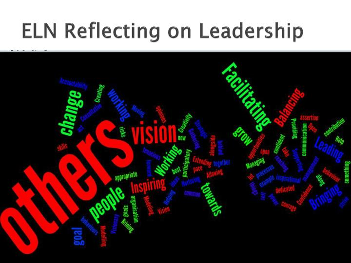 ELN Reflecting on Leadership