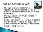 post eln confidence gains