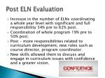 post eln evaluation
