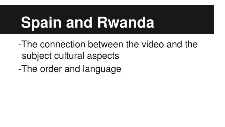 Spain and Rwanda