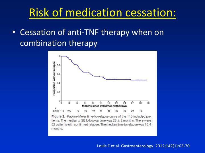 Risk of medication cessation: