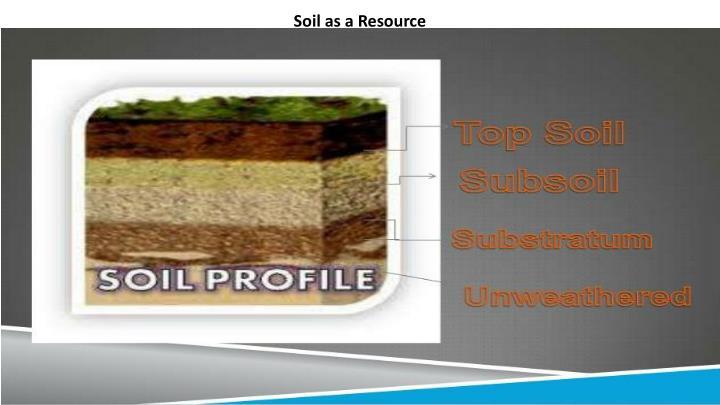 Soil as a Resource