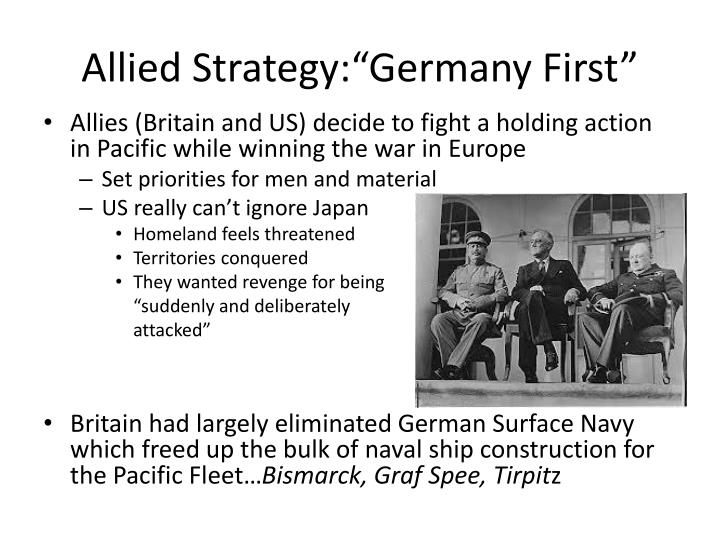 """Allied Strategy:""""Germany First"""""""
