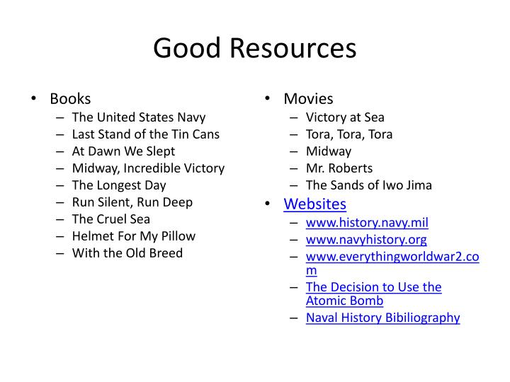 Good Resources