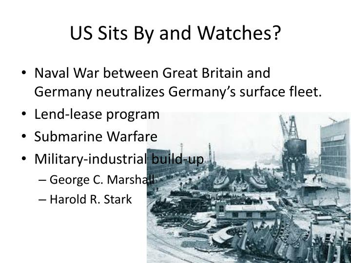 US Sits By and Watches?