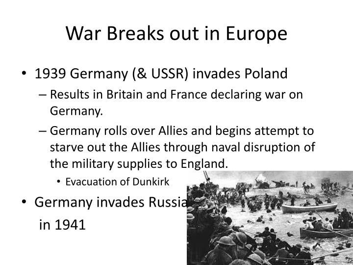 War Breaks out in Europe