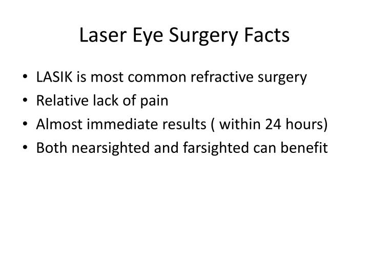 Laser Eye Surgery Facts