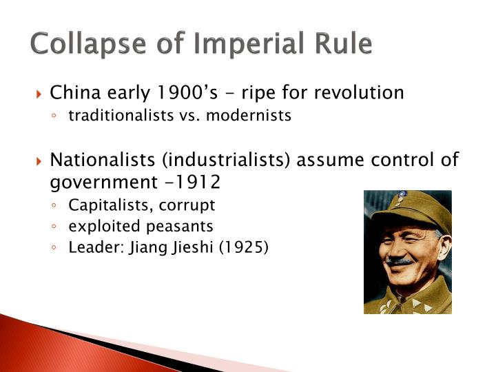 Collapse of imperial rule