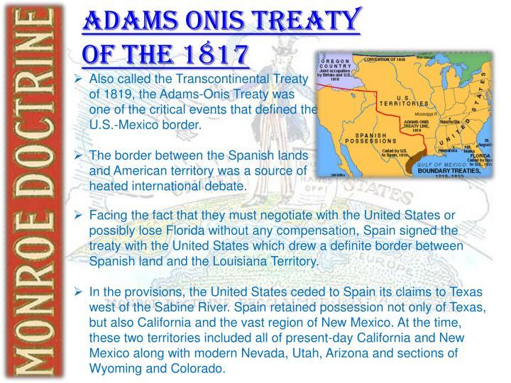 Adams Onis Treaty