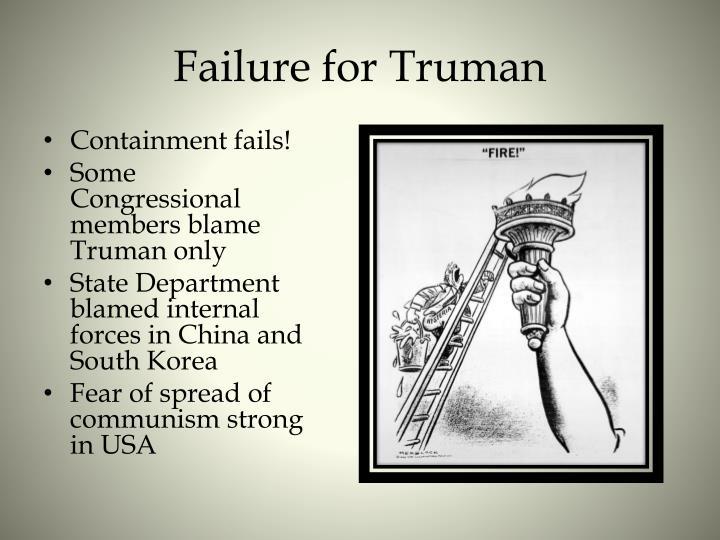 Failure for Truman