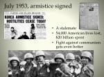 july 1953 armistice signed