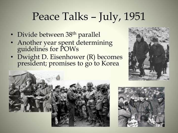 Peace Talks – July, 1951