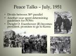 peace talks july 1951