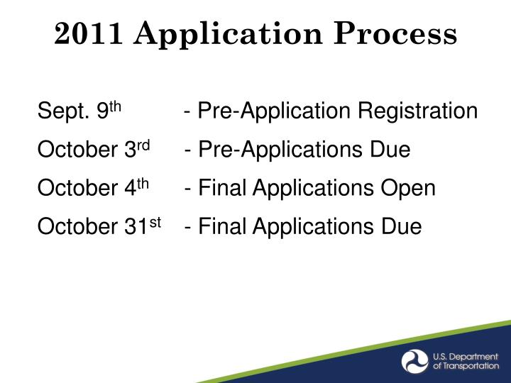 2011 Application Process