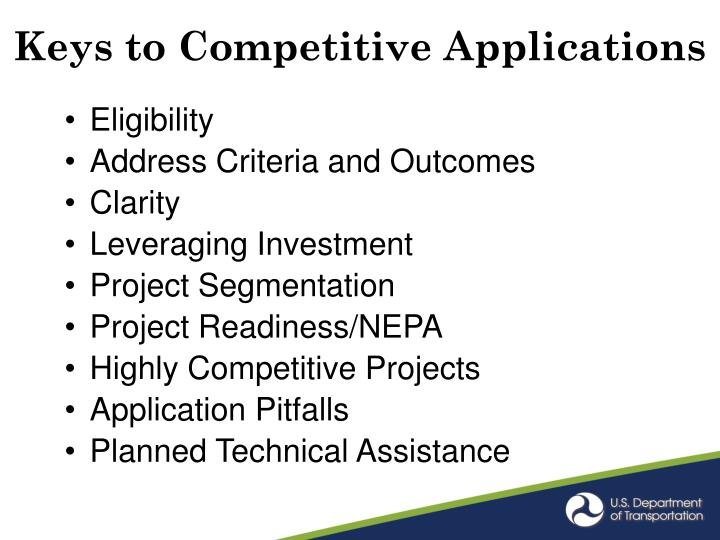 Keys to Competitive Applications