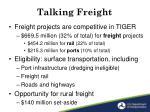talking freight1