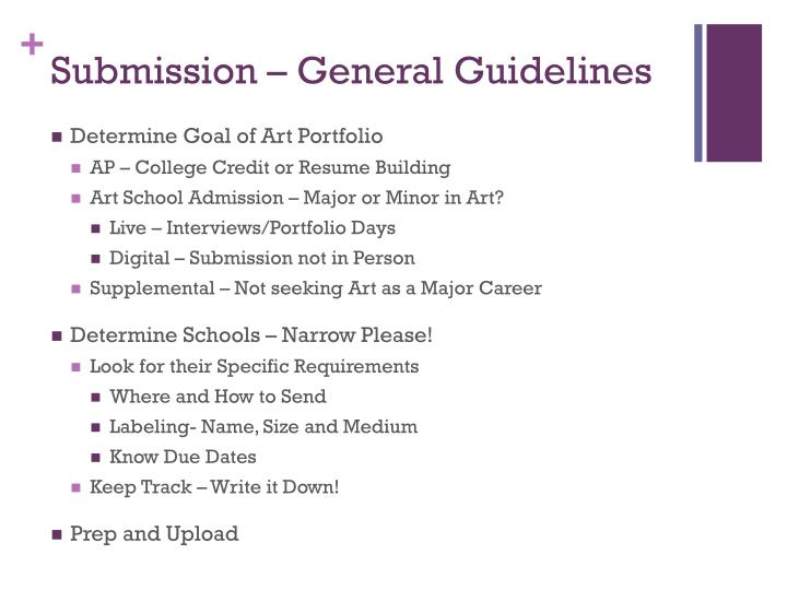 Submission – General Guidelines
