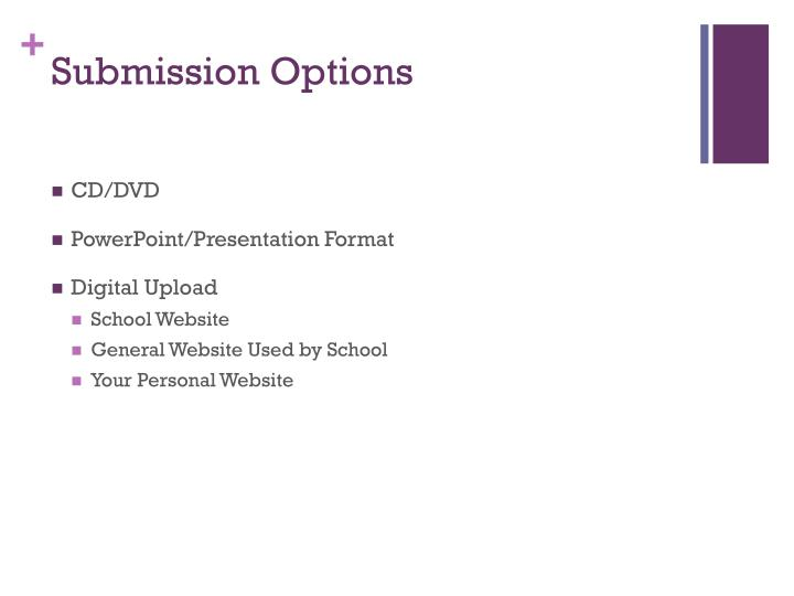 Submission Options