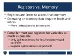registers vs memory
