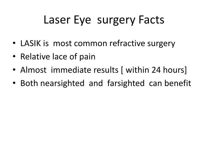Laser Eye  surgery Facts