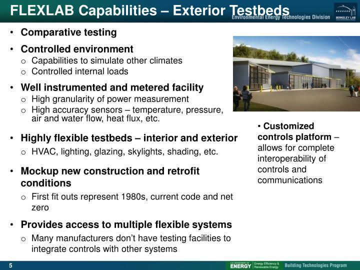 FLEXLAB Capabilities – Exterior