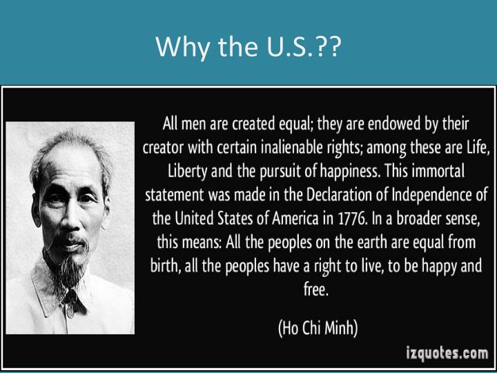 Why the U.S.??
