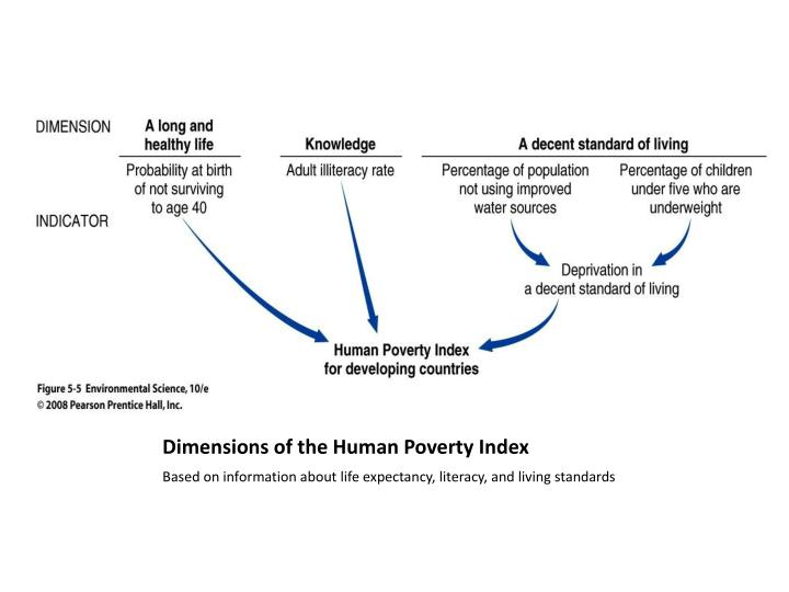 Dimensions of the Human Poverty Index