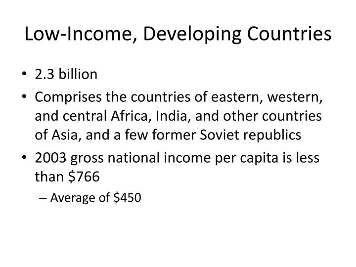 Low-Income, Developing Countries