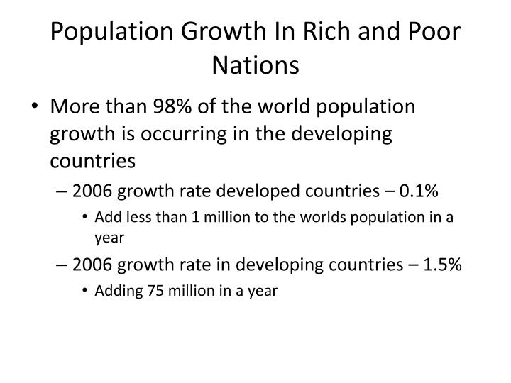 Population Growth In Rich and Poor Nations